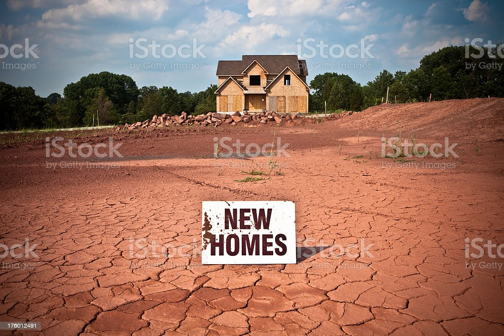 Abandoned McMansion royalty-free stock photo
