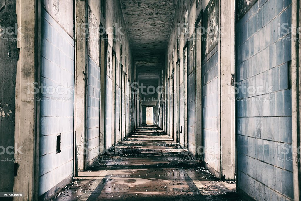 Abandoned mental hospital in Brazil stock photo