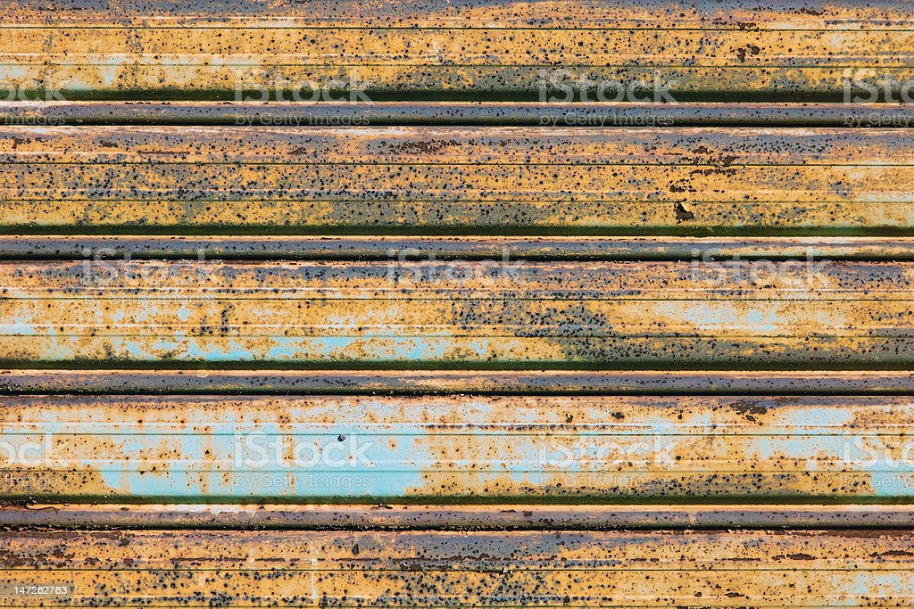 Abandoned Metal Rusty Shutter Background stock photo