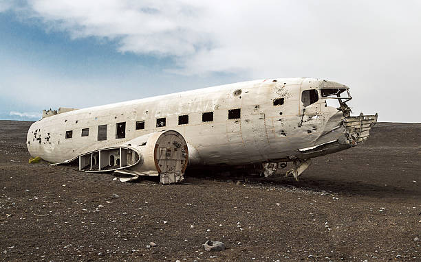 Abandoned military plane, Iceland. Abandoned military plane, Iceland. sólheimasandur stock pictures, royalty-free photos & images
