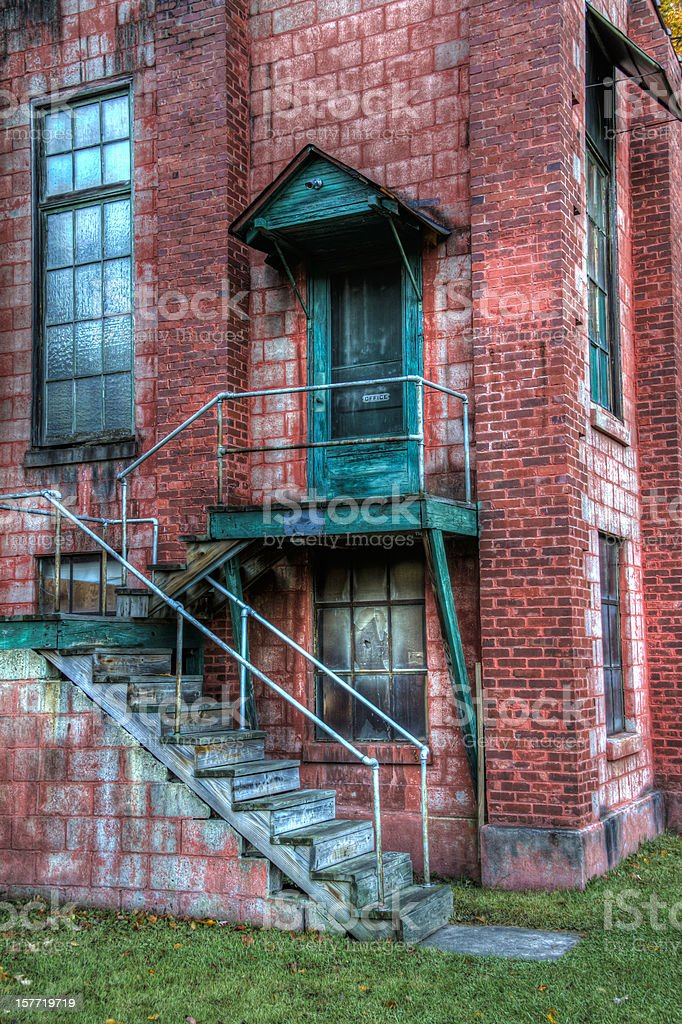 Abandoned Mill Entrance, HDR stock photo