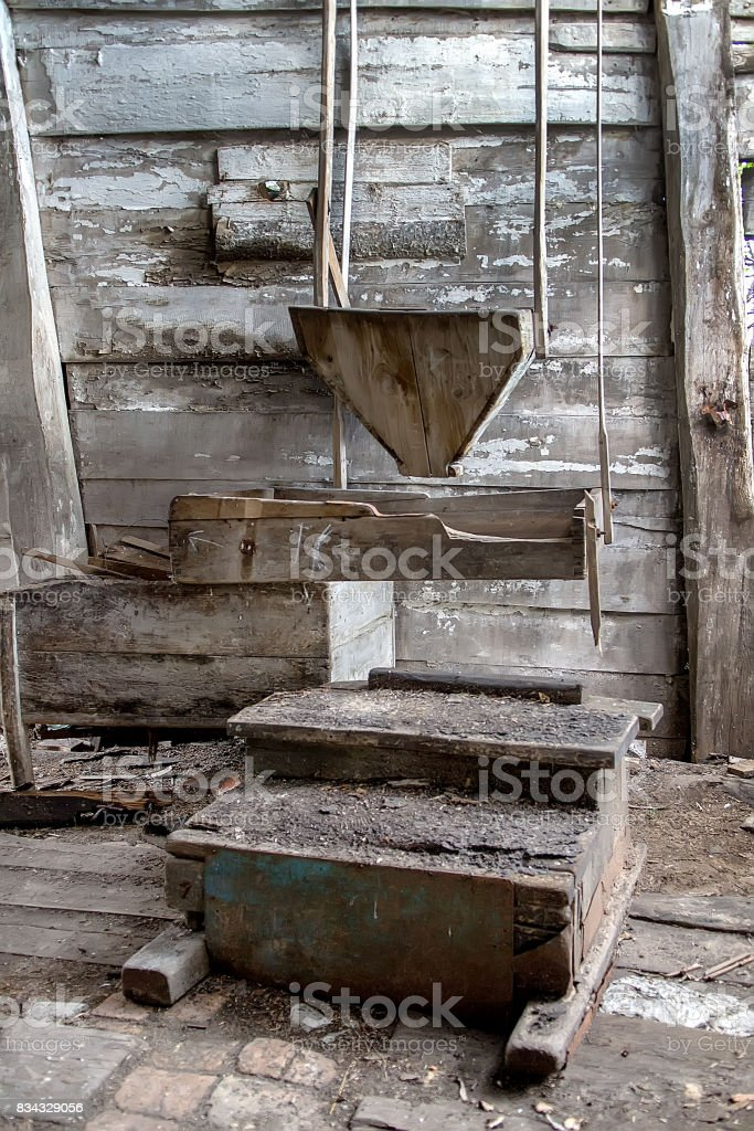 Abandoned mill factory stock photo