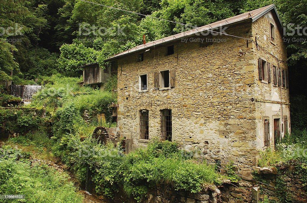 Abandoned Mill Near Salino royalty-free stock photo
