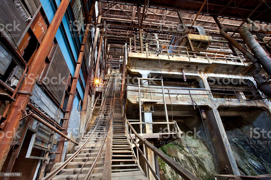Abandoned Mine From the Industrial Revoloution royalty-free stock photo