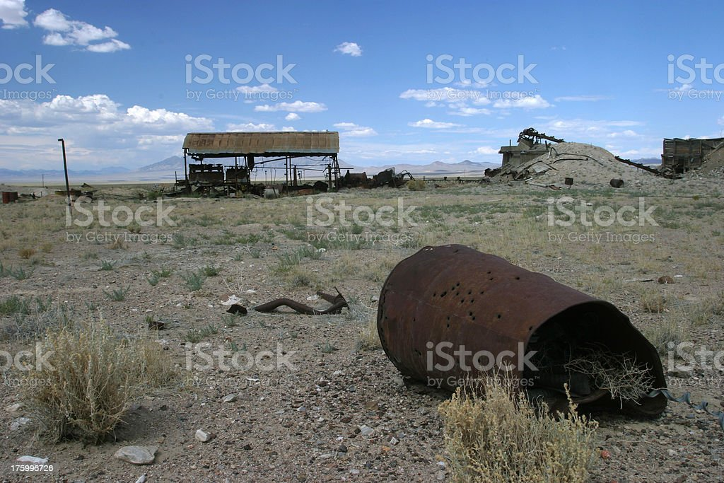 Abandoned mine in Nevada USA royalty-free stock photo