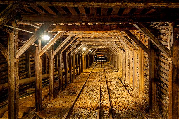 abandoned mine shaft, california - gold mine stock photos and pictures