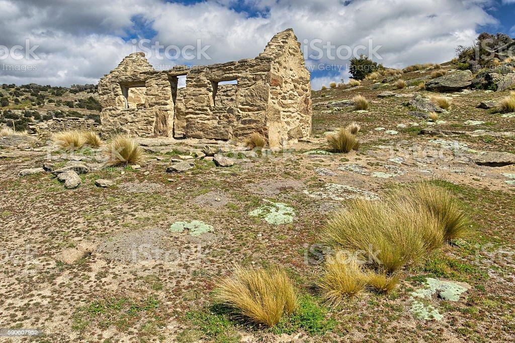 Abandoned miners house, Bendigo stock photo