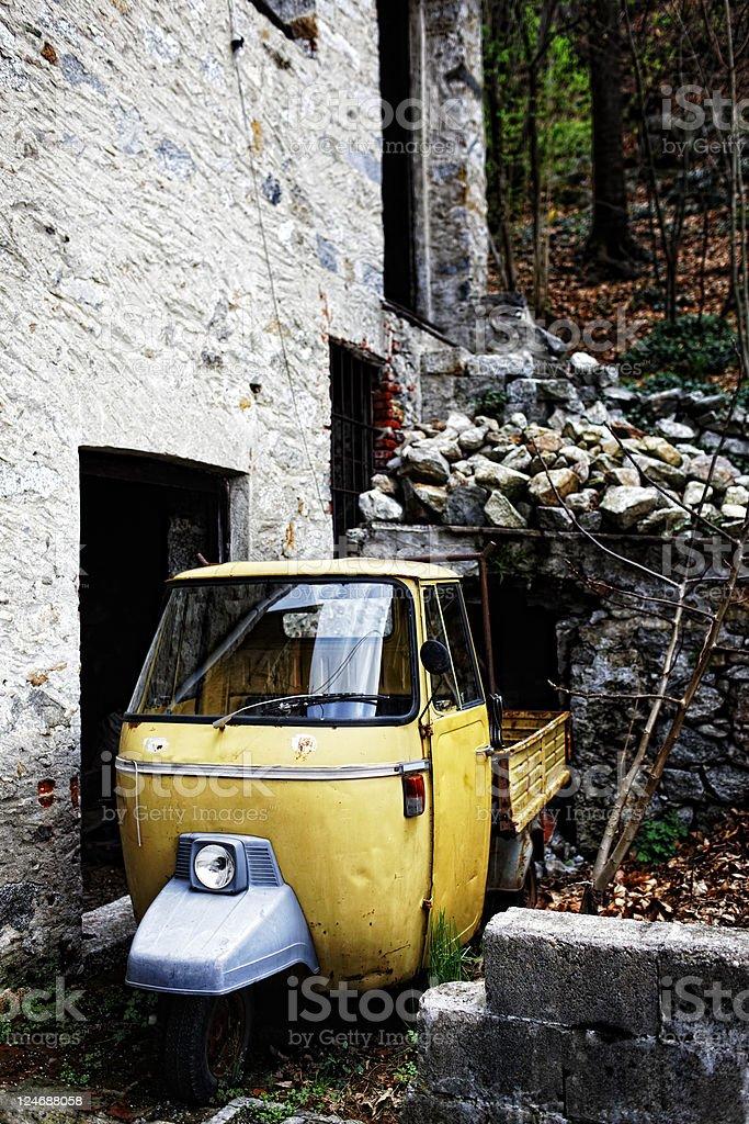 Abandoned Mini Van royalty-free stock photo