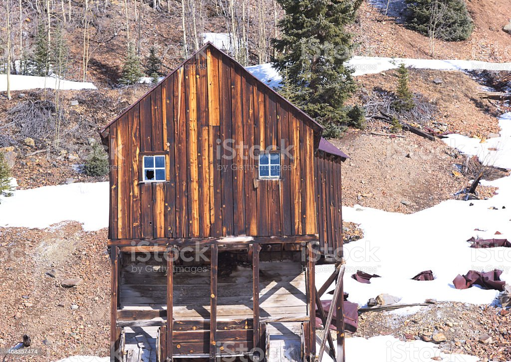 Abandoned Mining Building royalty-free stock photo