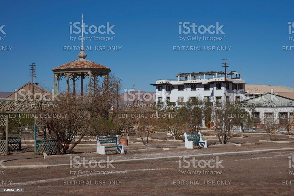 Abandoned mining town in the Atacama stock photo