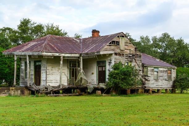Abandoned Mississippi Plantation House stock photo