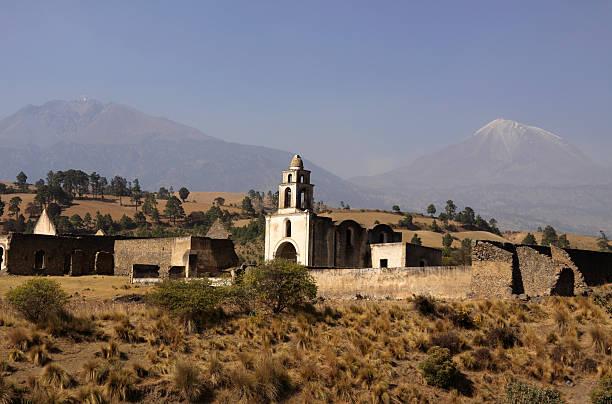 Abandoned monastery Abandoned monastery under volcano Pico de Orizaba, Puebla, Mexico. orizaba stock pictures, royalty-free photos & images