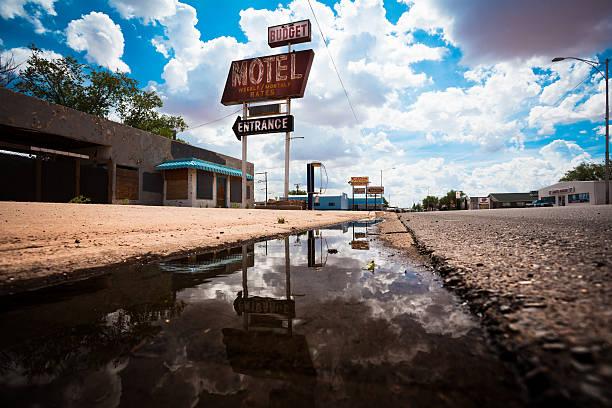 Abandoned Motel on Route 66, USA stock photo