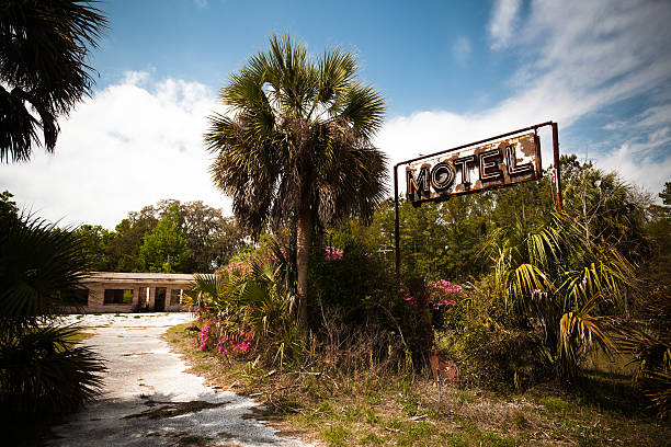 Abandoned Motel Sign in USA stock photo