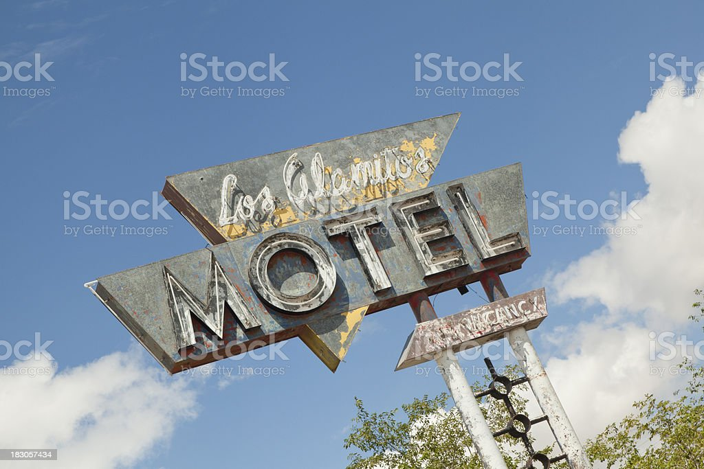 Abandoned Motel Sign, Route 66, Grunge royalty-free stock photo