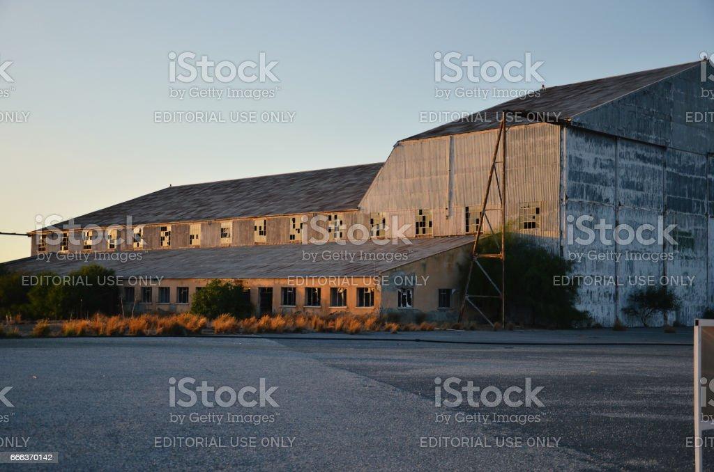 Abandoned Nicosia Airport stock photo