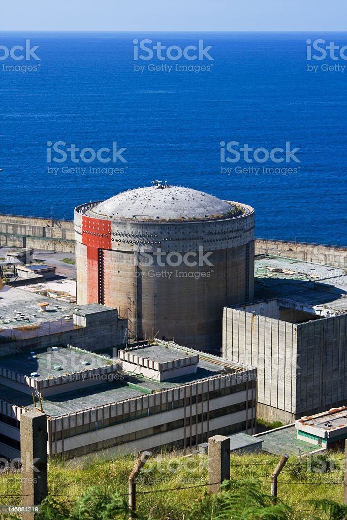Abandoned nuclear power plant royalty-free stock photo