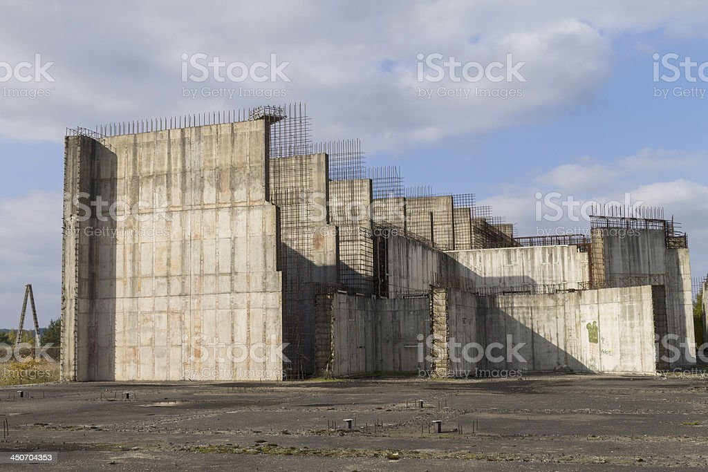 Verlassenen nuclear power plant - Lizenzfrei AKW-Reaktorbereich Stock-Foto