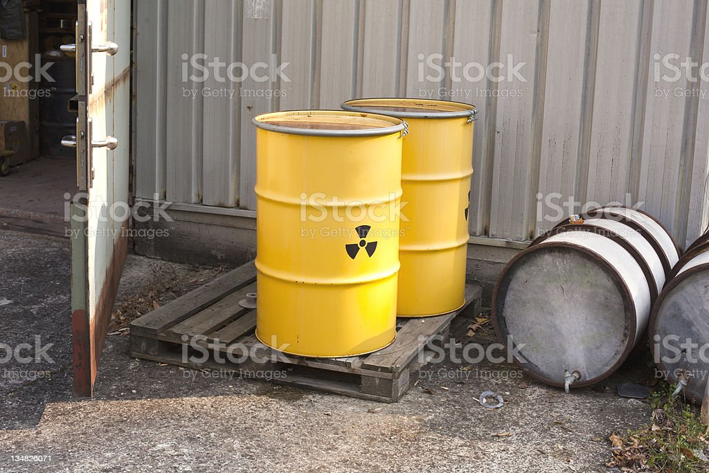 Abandoned nuclear waste royalty-free stock photo