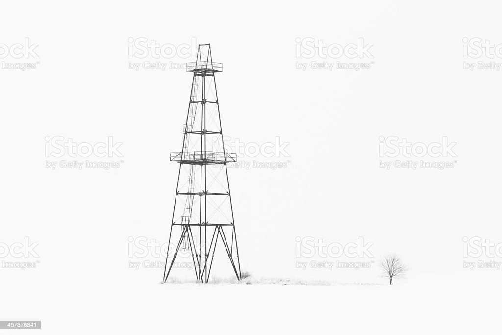 Abandoned oil and gas rig stock photo