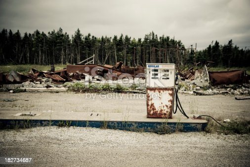Abandoned oil stationsee also