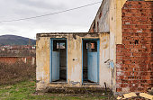 Abandoned old building, outside toilet