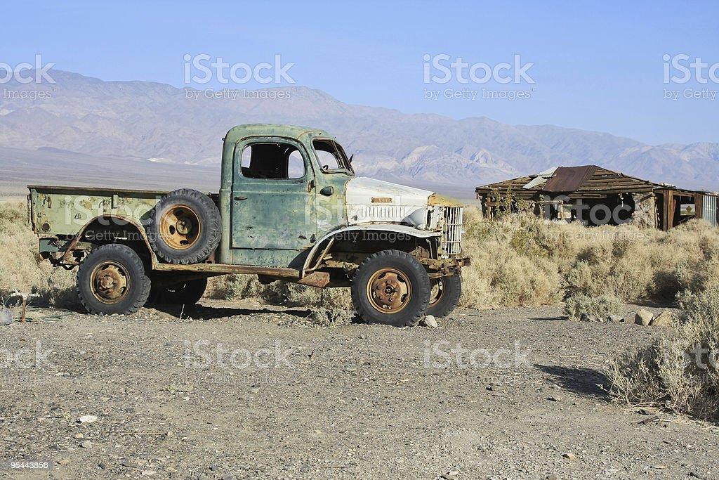 Abandoned old car royalty-free stock photo