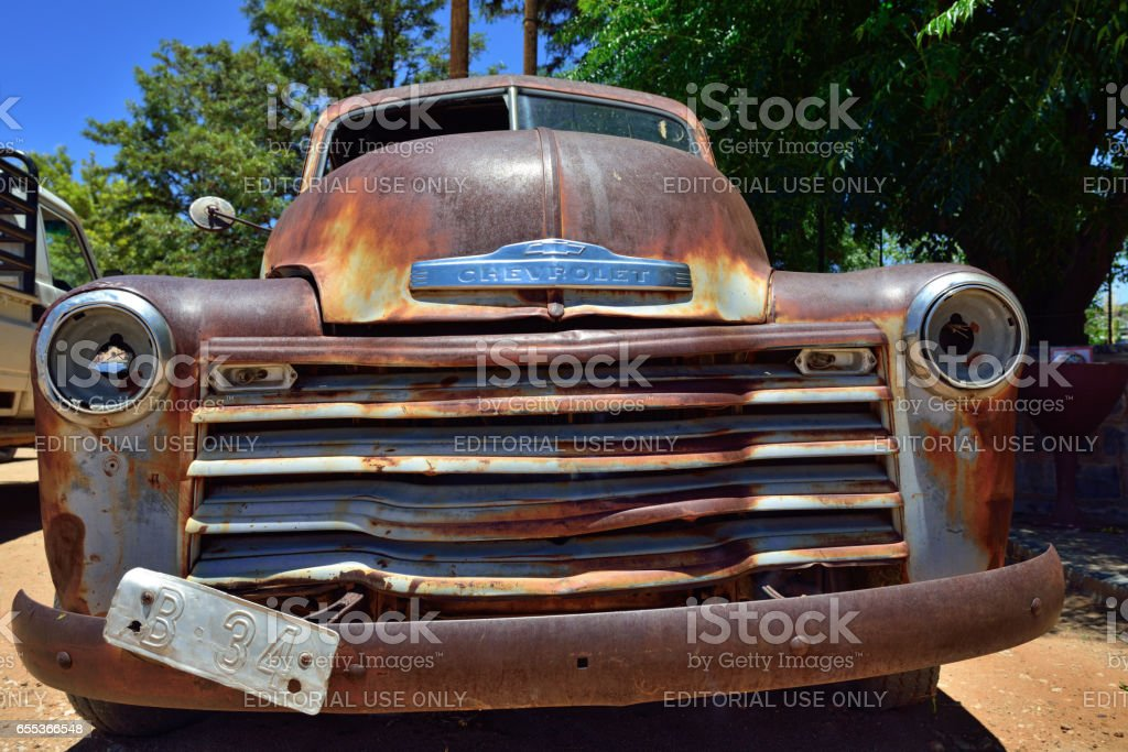 Abandoned Old Chevrolet Car stock photo   iStock
