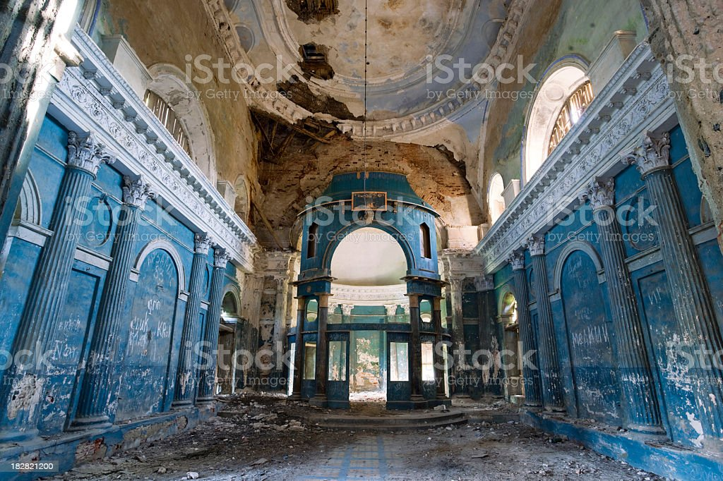 Abandoned old church in Russia royalty-free stock photo