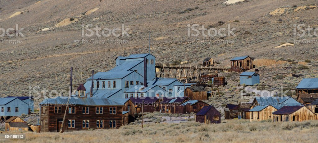 abandoned old decayed wild western gold ghost town in decay, usa royalty-free stock photo