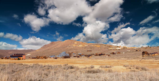 abandoned old decayed wild western gold ghost town in decay, usa - western town stock photos and pictures