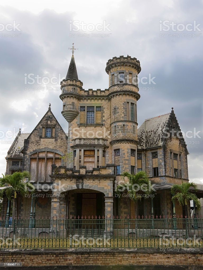 Abandoned Old English house stock photo