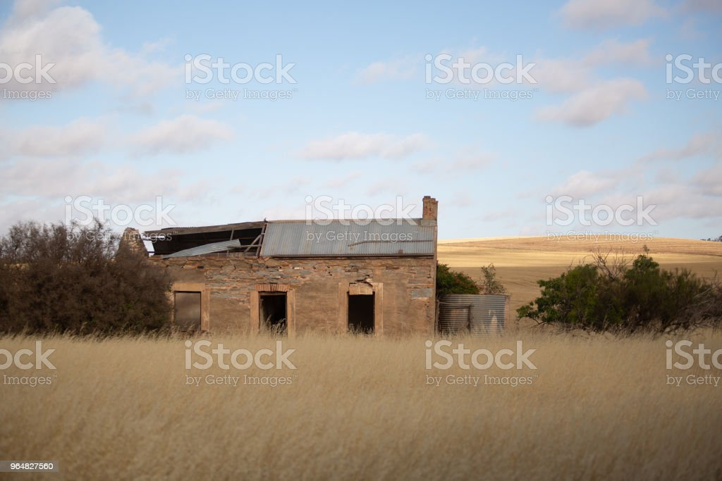 Abandoned old farm building royalty-free stock photo