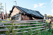 istock Abandoned old house in Russian village 835173844