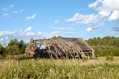 istock Abandoned old house in Russian village 835173856