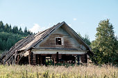 istock Abandoned old house in Russian village 835173874