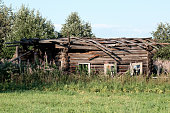 istock Abandoned old house in Russian village 835173878