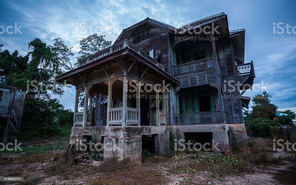 abandoned old house stock photo