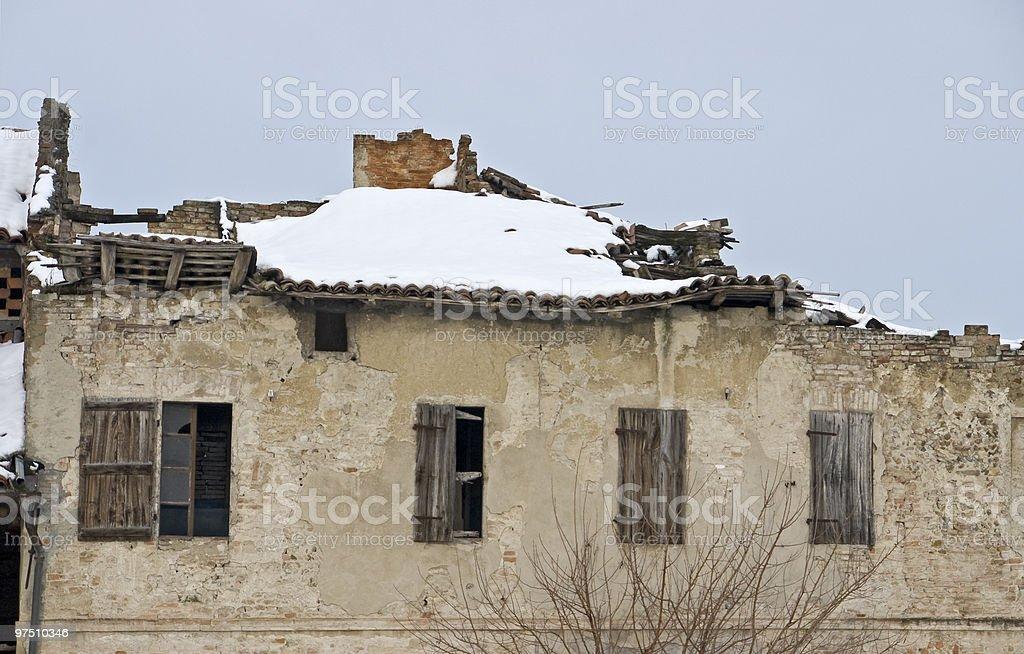 abandoned old house royalty-free stock photo