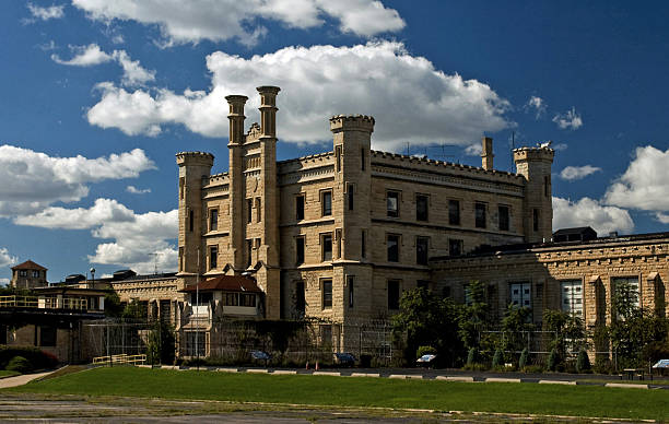 Abandoned Old Joliet Correctional Center Prison in Illinois stock photo