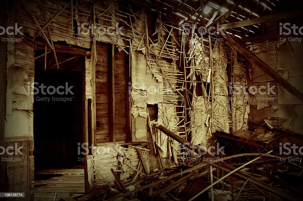 Abandoned Old School House royalty-free stock photo
