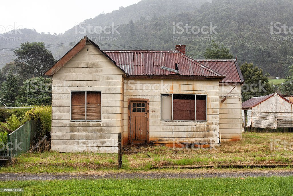 Abandoned old timber home stock photo