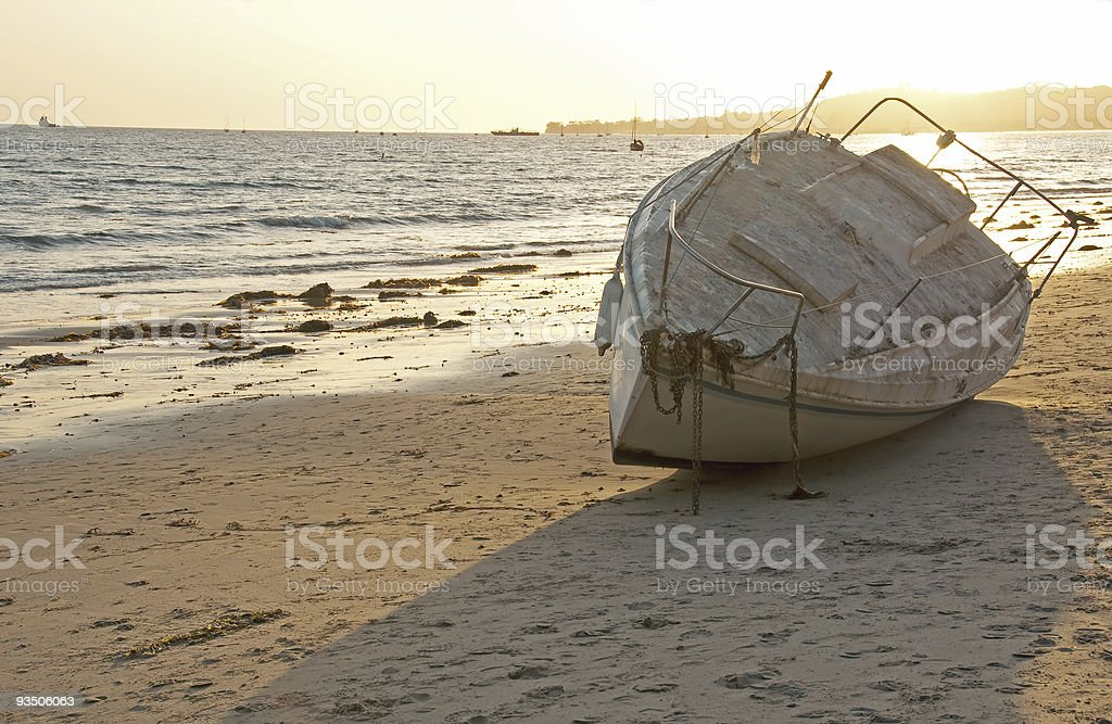 abandoned on the beach royalty-free stock photo