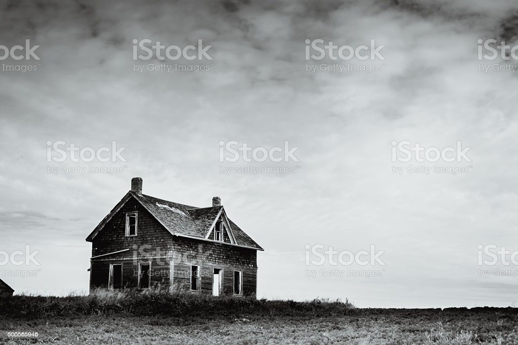 Abandoned on the Prairies stock photo