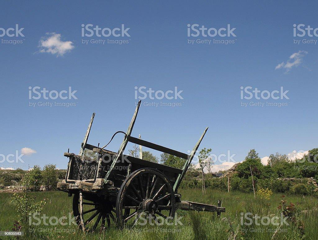 Abandoned Ox-Cart royalty-free stock photo