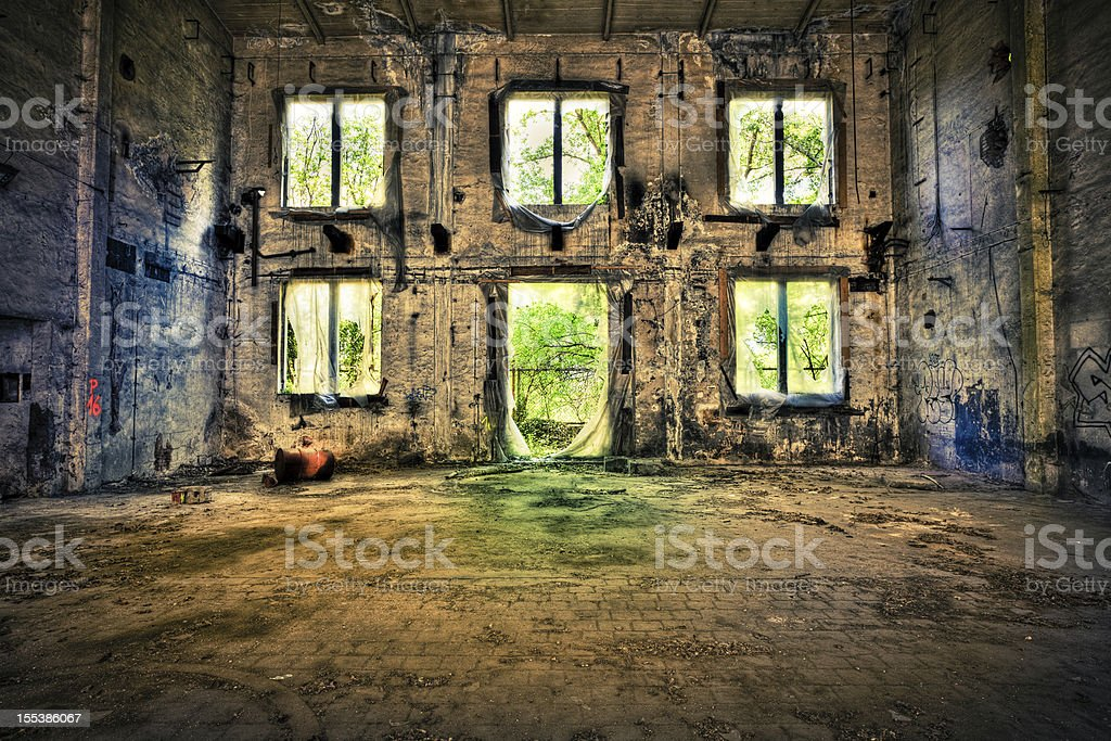 Abandoned Palace, Urban Decline royalty-free stock photo