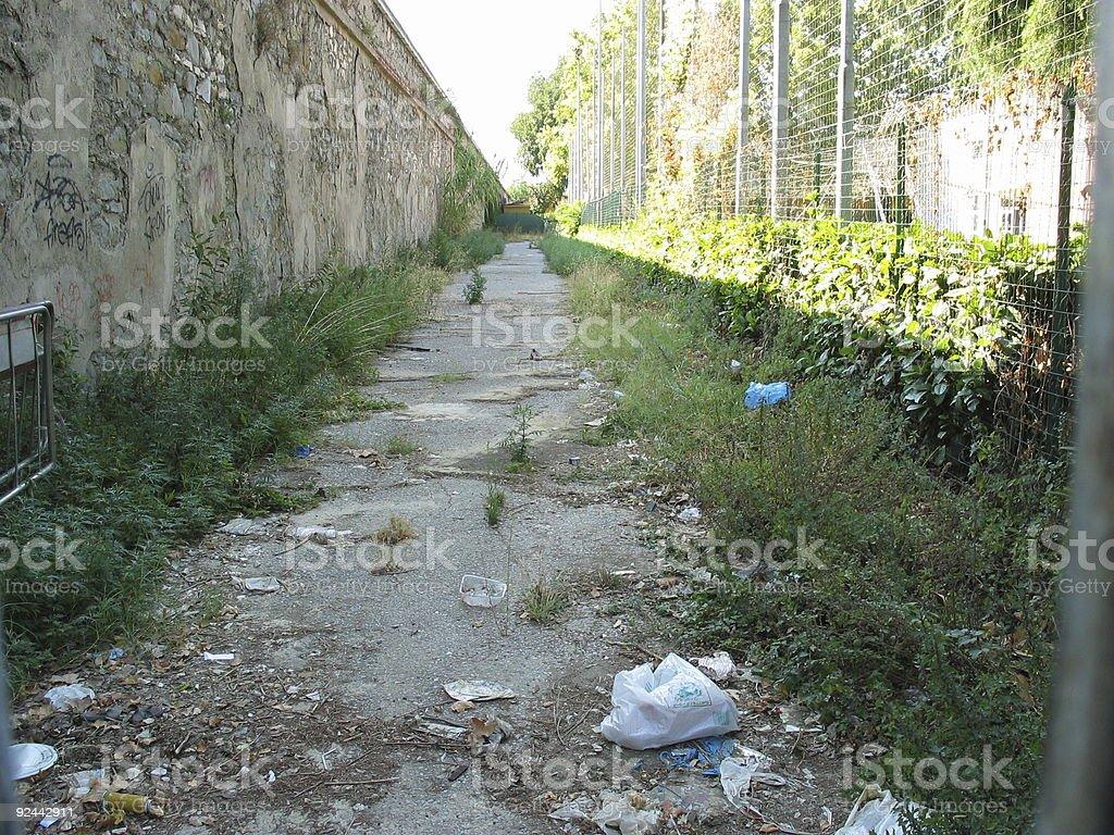 Abandoned path stock photo