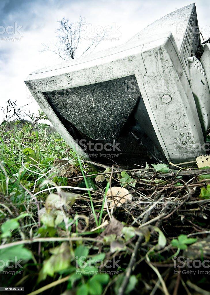 Abandoned PC screen stock photo