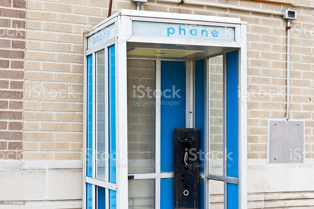 Abandoned Phone Booth I stock photo