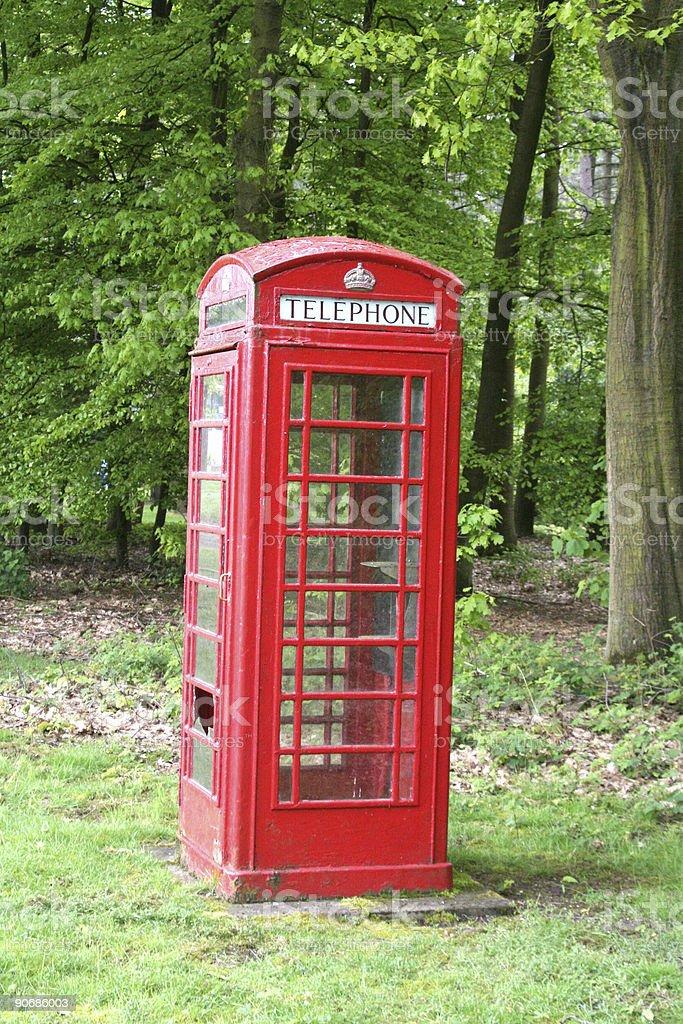 Abandoned Phone Box royalty-free stock photo